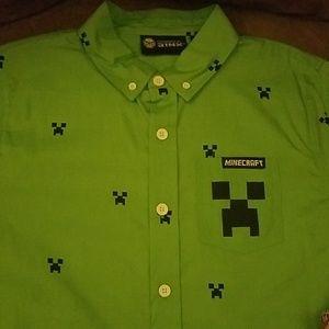 Other - Minecraft button up shirt